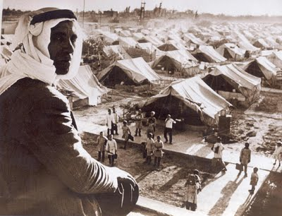 Nakba: refugee tents in 1948