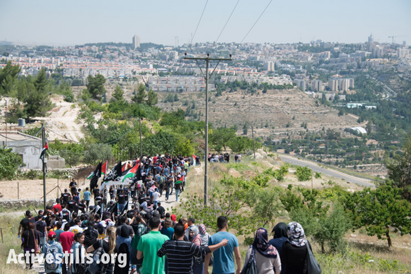 Nakba-day march